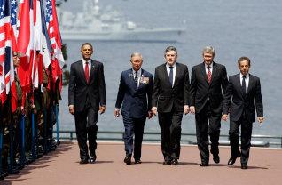 Barack Obama, Nicolas Sarkozy, Gordon Brown, Stephen Harper, Prince Charles