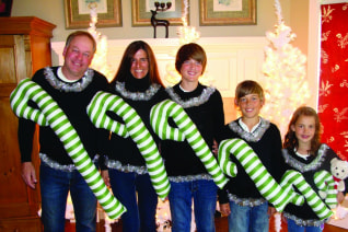 Image: Candy cane sweaters