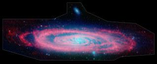 Image: Andromeda in infrared