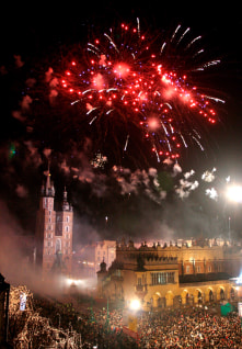 Image: New Year's celebration in Poland