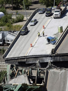 IMAGE: Collapsed bridge in Minneapolis