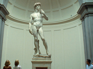 <David> by Michelangelo at the Galleria dell'Accademia