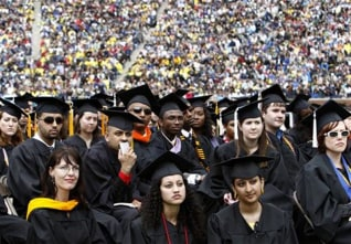 Image: Graduating students at the University of Michigan