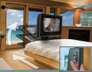 8 ingenious ways to hide your hdtv today tech. Black Bedroom Furniture Sets. Home Design Ideas