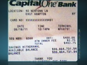 $100 million savings receipt left in ATM - Business - US business