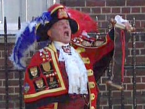 Town crier announces royal birth