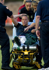 Soccer star Wambach breaks leg, will miss Olympics ...