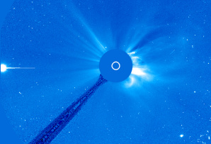 Image: SOHO view of sun and Venus