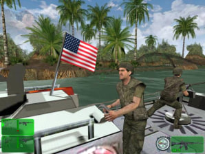 Kerry s swift boat service gets video game treatment technology