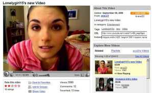 LonelyGirl15 gives Neutrogena some face time