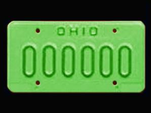 Sex offender license plate