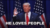 Sept. 3: Republican presidential hopeful Donald Trump isn't bashful in expressing his 'love' for different people, places, and ideas.(Other)