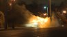 Nov. 26: A police cruiser was flipped and set ablaze as protests in Ferguson, Missouri ramped up on Tuesday evening.(Other)