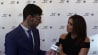 "April 26: Msnbc's Mohamed Hassan speaks to Eva Longoria on the red carpet for the premiere of her film ""Go Sebastien Go"" about her view on racism in America, immigration reform, and her thoughts on the 2016 election.(Other)"