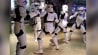 "Sept. 4: A talented Stormtrooper dance troupe got funky early Friday morning in Times Square, as the first merchandise for the forthcoming ""Star Wars"" films went on sale.�(Other)"