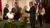 """Nov. 26: President Obama officially pardons the National Thanksgiving Turkey at the White House while poking fun at critics, saying the executive action is """"fully within my legal authority.""""(Other)"""