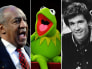 Bill Cosby, Kermit the frog, and Alan Thicke