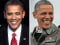 Image: From left, Barack Obama takes the oath of office in 2009 & President Obama on Nov. 1, 2012.