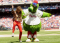 Image: ntertainer Paula Abdul dances with Philadelphia Phillies mascot Phillie Phantic during the Los Angeles Dodgers vs Philadelphia Phillies game in Philadelphia