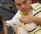 Image: Michael Li gets a flu vaccination