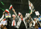 Iranian Americans cheer during the first National Convention for a Democratic, Secular Iran in Washington