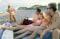 Image: Beach goers
