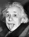 Well-known photo taken in 1951 of Einstein