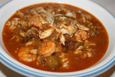 Seafood and okra gumbo from Deep South Dish