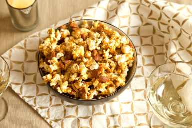 Nutty caramel corn is a great party snack