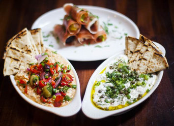 No-cook Mediterranean mezze platter, by chef Michael Psilakis of Kefi, Fishtag and MP Taverna