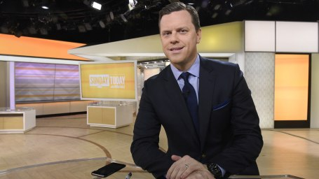 "Willie Geist appears on ""Sunday Today with Willie Geist"" on Sunday, April 17, 2016 from Rockefeller Plaza in New York"