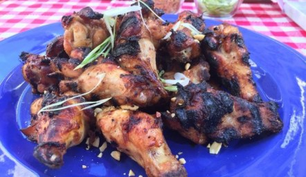 Peanut butter and jelly grilled chicken wings