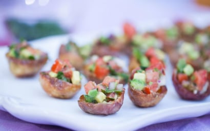 Chloe Coscarelli's vegan potato skins