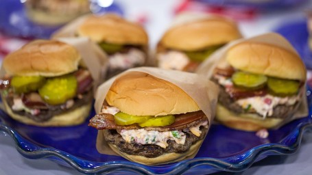 Elizabeth Heiskell shares a pimento cheese-and-bacon burger recipe