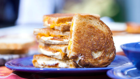 Three-Cheese Grilled Cheese