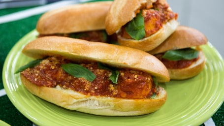 Missy Robbins's Turkey Meatball Hero SandwichesTODAY, November 11 2016.