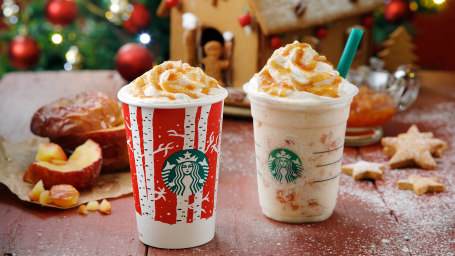 Starbucks apple pie latte and Frappuccino