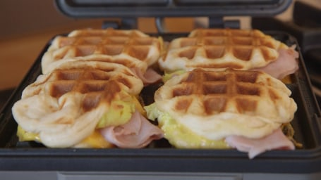 4-Ingredient Breakfast Stuffed Waffles