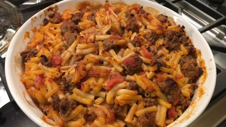 Dylan's mom's cheeseburger casserole