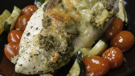 Pesto Chicken and Veggies