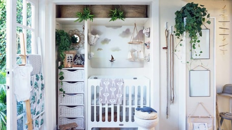 A Tiny Home nursery for baby