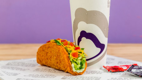Taco Bell's Naked Chicken Chalupa with Fried Chicken Shell