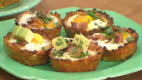 Sweet Potato Hash Brown Egg Cups