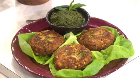 Padma Lakshmi's Spiced Crab Cakes with Mint Chutney. TODAY, March 1st, 2017.