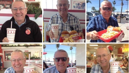Grandparents send weekly burger date photo from In-N-Out