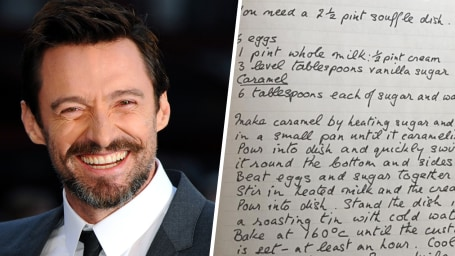 Hugh Jackman's favorite recipe from his mom