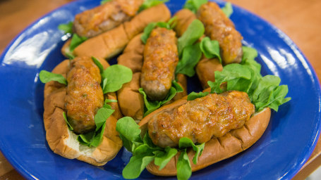 Roger Mooking's Jumbo Split Sausages