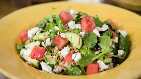 Farro Arugula Watermelon Salad