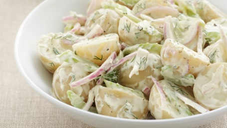 Plate of potato salad