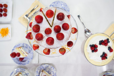Clodagh McKenna's Orange Blossom Strawberry Sponge Cake + All-American Summer Berry Trifle